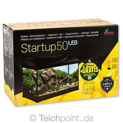 Diversa Aquarium StartUp Set 50 LED, Glasbecken komplett Aquariumset Nano