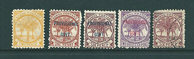 SAMOA - Early stamp collection with overprints