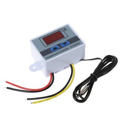 220V Digital LED Temperature Controller 10A Thermostat Control w/ Switch Probe