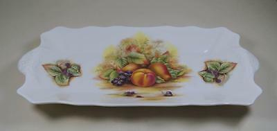 Aynsley ORCHARD GOLD White Ground Twin Handled Rectangular Sandwich Tray