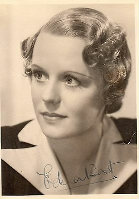 Vintage Photograph Edna Best Hand Signed In Ink Actress Theatre Autograph