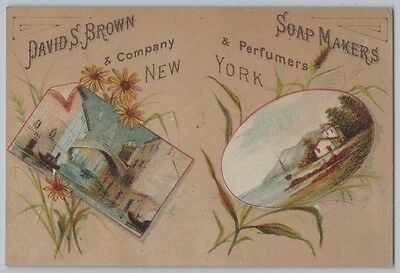 1882 Aesthetic Movement Trade Card for New York Perfume & Soap Maker