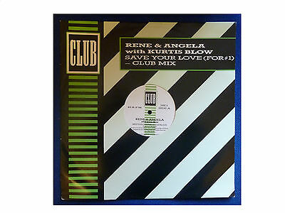 "RENE AND ANGELA with CURTIS BLOW * SAVE YOUR LOVE * 3 TCK 12"" VINYL CLUB JABX 14"