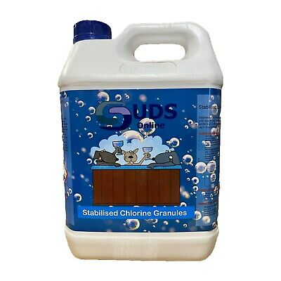 5kg Stabilised Chlorine Granules For Swimming Pools Spas and Hot Tubs