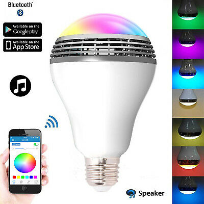 Lampadina led con altoparlante cassa speaker E27 bluetooth rgb w ww smart bulb