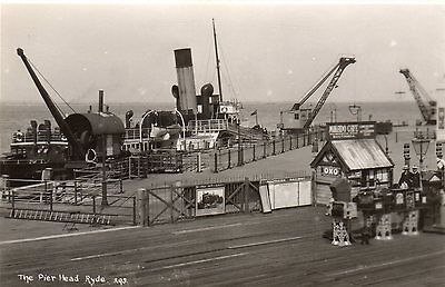 Vintage Postcard Ryde Isle Of Wight Pier Head Steamer Cranes The Mikado Cafe Rp