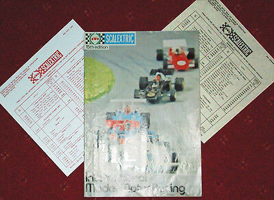 Scalextric Catalogue 15. 1974 . With P/Lists.