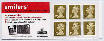 GB 2005 6 x 1st CLASS SELF ADHESIVE STAMPS CYLINDER W3 BOOKLET MB4a Bride
