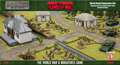 GF9 Battlefield in a Box Flames of War Rural Road Expansion Set BB140