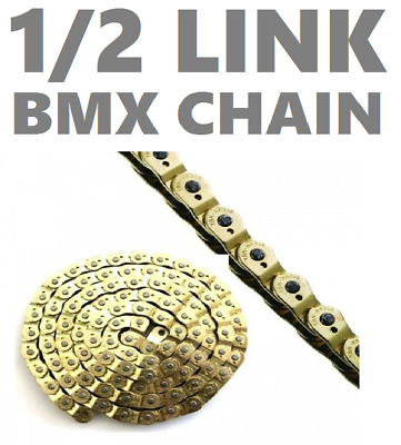 GOLD Half 1/2 Link BMX / Fixie / Single Speed Bike Chain  - Free Delivery
