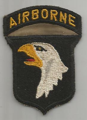 Very Rare Gold Eye US Army 101st Airborne Division Patch Attached Tab Inv# K349