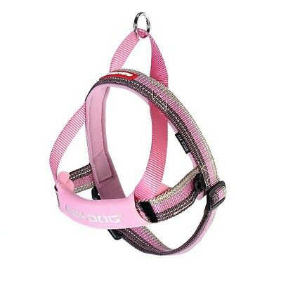 EZYDOG - Candy Stripe Pink Medium Quick Fit Dog Harness - Free Delivery