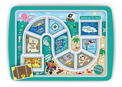 Fred Pirates Dinner Winner Tray Childrens Tea Dinner Board Game Kids Meal Plate