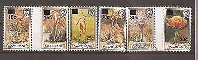 Swaziland 1985 Flowers Surcharges superb used  w8882