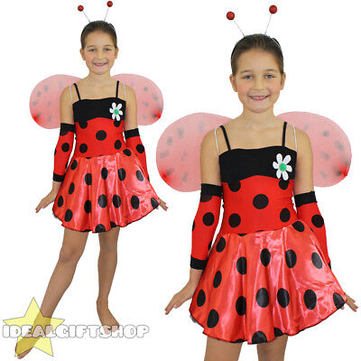 Girls Ladybird Fancy Dress Costume Lady Bird Insect Cute Lady Bug Girls Outfit