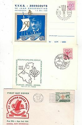 COLLECTION OF THIRTY SEVEN-BOY SCOUT/JAMBOREE   RELATED FDCs.1956- 1976