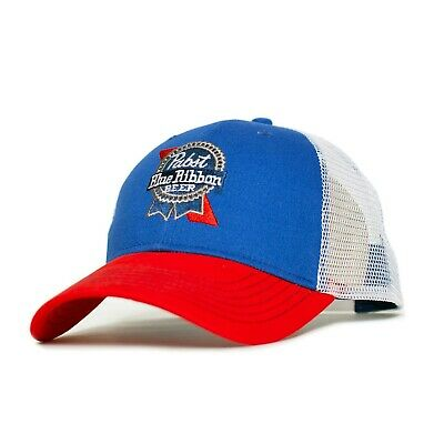 Pabst Blue Ribbon Embroidered Logo Hat Blue