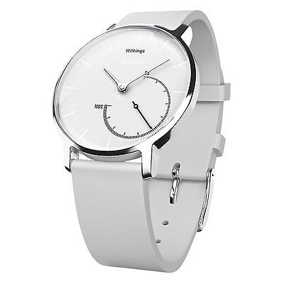 Withings Activité Steel 24/7 Activity and Sleep Tracking Watch - White (ML1075)