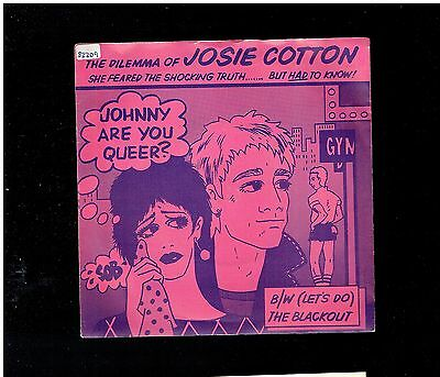 Josie Cotton Johnny Are You Queer? Ps 45 1981