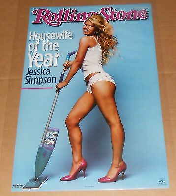 Jessica Simpson Rolling Stones Housewife of the Year Poster 34x22 Funky #3714