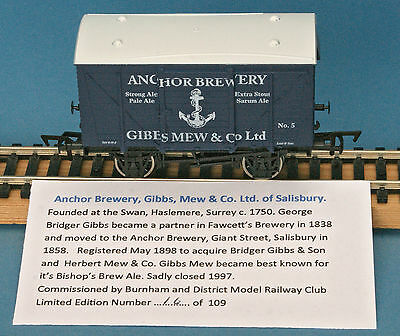 Dapol Anchor Brewery Gibbs Mew & Co Ltd Ventilated Van Nº 5 LE of 109 Boxed