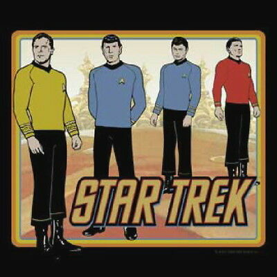 Star Trek Classic Animated TV Crew Standing T-Shirt NEW