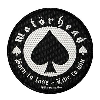 """""""Motorhead: Born to Lose-Live to Win"""" Heavy Metal Music Sew On Applique Patch"""