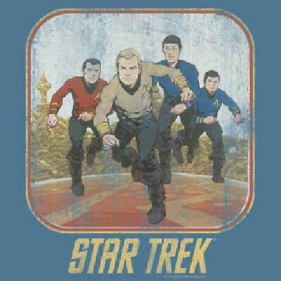 Star Trek Classic Animated TV Crew Running T-Shirt, NEW UNWORN