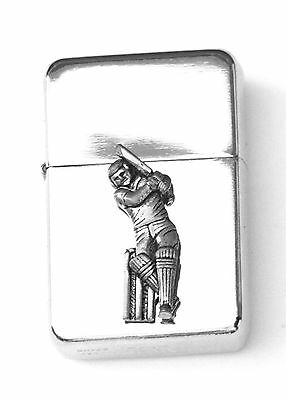 Cricketer Emblem Windproof Petrol Cigarette Lighter FREE ENGRAVING Gift 89