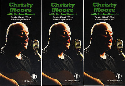 3 X Christy Moore 2014 Tour Flyers - Declan Sinnott - Manchester