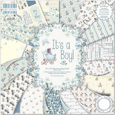 Dovecraft 12x12 First Edition Papier Packung - Es Hat A Boy