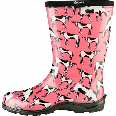 Sloggers Cowbella Womens Pink Garden Boots Size 9
