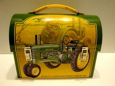 "John Deere Dome Mini Tin 7"" Lunchbox"