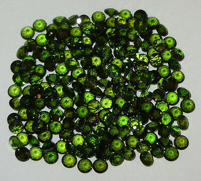4mm Calibrated Green Russian Chrome Diopside Brilliant Round Cut