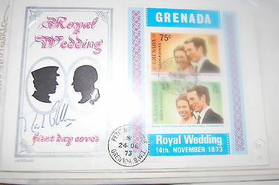 Princess Anne & Mark Phillips Wedding Fdc Signed Mark Phillips 4