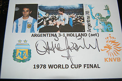 Ossie Ardiles Argentina 1978 World Cup Win Signed Envelope 1