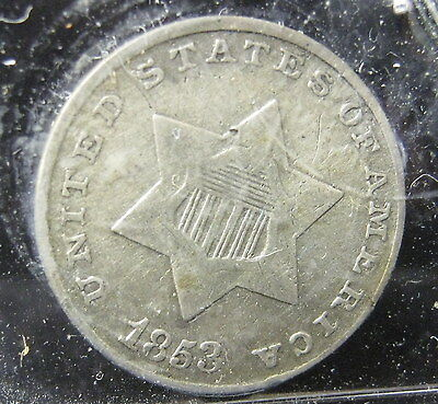 1853 III Cent Silver - VG/F     P-223