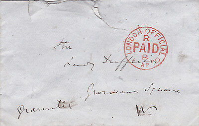 Earl Granville **signed Official Free Cover: Liberal Leader, Foreign Sec. (1870)