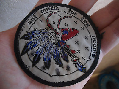 ORIG VINTAGE 1980s ADAM AND THE ANTS ANT MUSIC FOR SEX PEOPLE SEW ON CLOTH PATCH