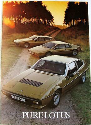 LOTUS 2.2 Eclat Esprit Elite Original Car Sales Brochure 1980-81