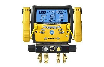 Fieldpiece SMAN460 4-Port Wireless Refrigerant Manifold with Micron Gauge