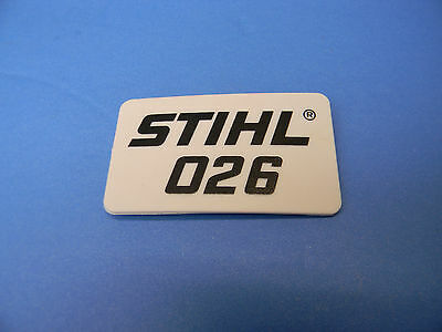 OEM STIHL NAME TAG MODEL PLATE FS90 TRIMMER # 4180 967 1528