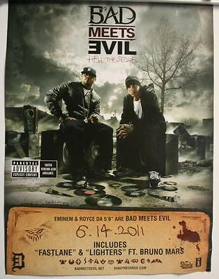 Eminem Bad Meets Evil Hell the Sequel Promo Poster 2011 18x24