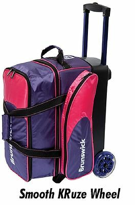 Brunswick Flash C Purple/Pink 2 Ball Roller Bowling Bag