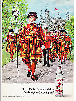 Original Print Ad-1972 BEEFEATER GIN-Marching to the Tower Green-Stanley Dersch
