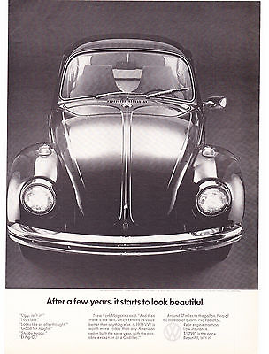 Original Print Ad-1969 After a few years, it starts to look beautiful-VOLKSWAGON