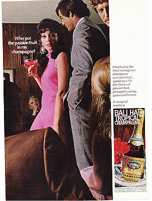 Original Print Ad-1969 Who put passion fruit in my CHAMPAGNE?-BALI HAI TROPICAL