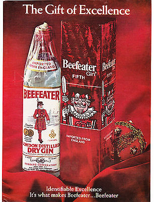 Original Print Ad-1970 Gift of Excellence-BEEFEATER GIN-Imported from England