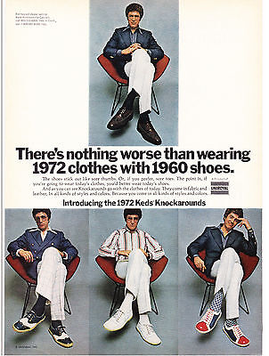 Original Print Ad-1972 Introducing the 1972 KEDS Knockarounds-WearToday's Shoes