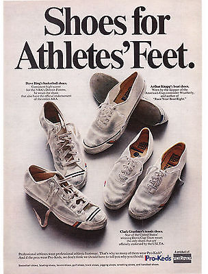 Original Print Ad-1969 Shoes For Athletes' Feet-KEDS PRO SHOES by UNIROYAL